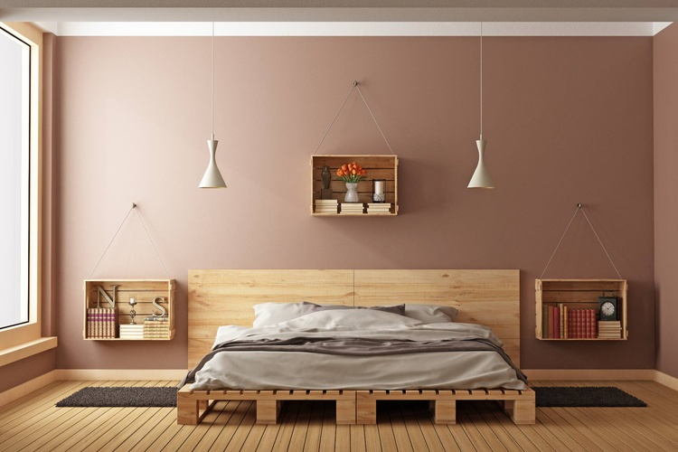 bett aus holzpaletten. Black Bedroom Furniture Sets. Home Design Ideas
